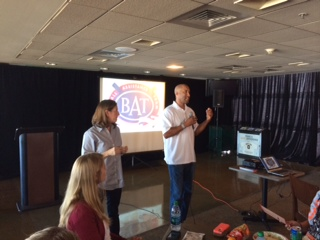 B.A.T. President, Randy Winn presented to the Front Office of the San Francisco Giants